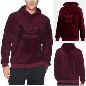 Adidas Winterized Pullover Hoddie in Maroon, Small
